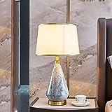 Chao Zan Moderna Cerámica Lámparas de Mesa Lámpara de cabecera Tela Sala de Estar Dormitorio E27 Lámpara de Escritorio con Interruptor Lámpara de noche creativo para Hotel Estudio salón oficina
