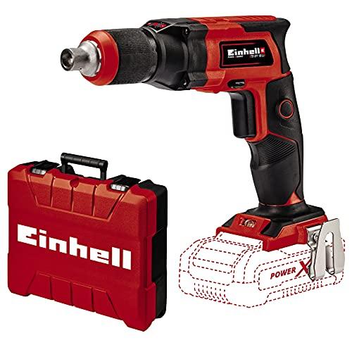 Einhell Atornillador de obra en seco con batería TE-DY 18 Li-Solo Power X-Change (iones de litio, 18 V, 4000 min-1, tope de profundidad, funcionamiento continuo, sin batería ni cargador, incl. E-Box)