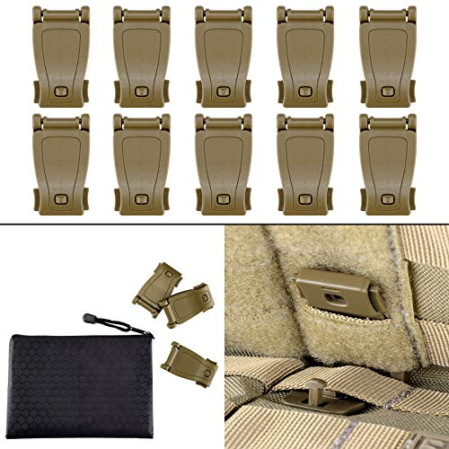 BOOSTEADY Multipurpose MOLLE Clip Tactical Strap Management Tool Web Dominator Buckle for Tactical Bag, Backpack