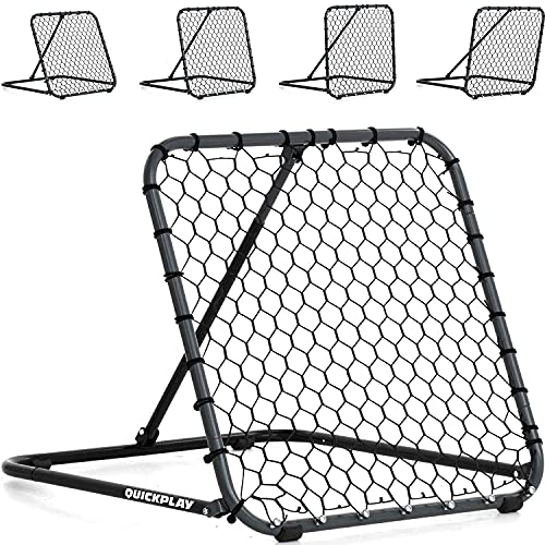 QUICKPLAY PRO Rebounder Adjustable Angle Multi-Sport Trainer   Soccer Rebounder or Baseball & Softball Pitch Back   Ideal for Team and Solo Training (3 x 3')