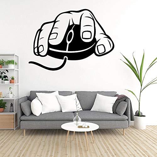 Ordenador ratón pared videojuego vinilo pared 3D creativo vinilo pared pegatina mural calcomanía arte decoración