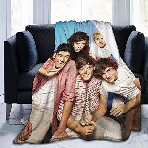 maichengxuan One Direction - Manta de forro polar ultra suave y elegante 1D para sofá cama, manta cálida de 50 x 40 pulgadas