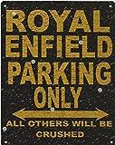 YASMINE HANCOCK in Royal Enfield Parking Rustic STYLEin Car SHED Garage Workshop Placa de Metal Logotipo de la Lata Poster Arte de la Pared Club Bar decoración del hogar