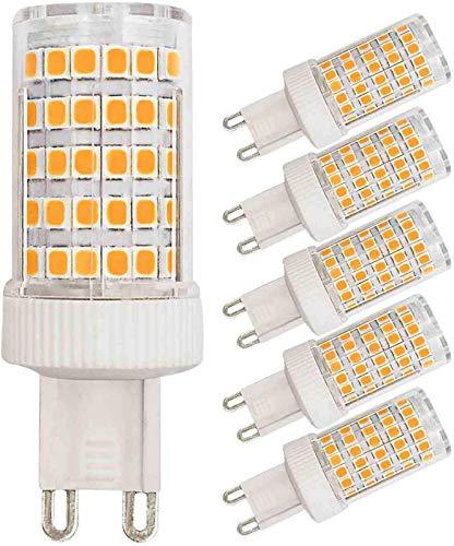 KDMB Bombillas LED G9 10W Equivalente a 80W 70W Halógena Blanco cálido 3000k 800 Lumen 220V Ángulo de Haz de 360 ° Ahorro de energía Bombilla Base de Dos Clavijas G9 (Paquete de 5)