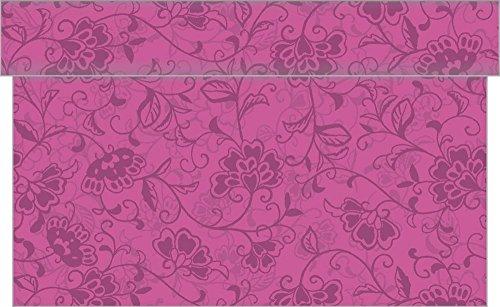 Sovie HORECA Linclass® Airlaid Tischläufer 24 m x 40 cm | praktische Einmal-Tischläufer für Hochzeit oder Partys | Liv | 1 Stück (Beere)