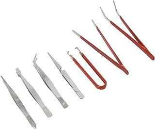 Silverline 209144 - Pinzas de precisión, 7 pzas