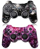 PS3 Controller Wireless 2 Pack High-Precison Dual Shock Gamepad DS3 Gaming Controller for Playstation 3 with Charging...