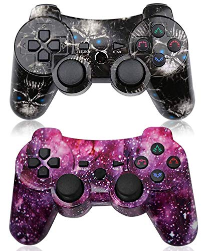 PS3 Controller 2 Pack Wireless 6-axis Dual Shock Gaming Controller for...