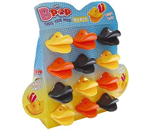 WOM Quack, Chupetes de Caramelo con Forma de Pico de Pato,