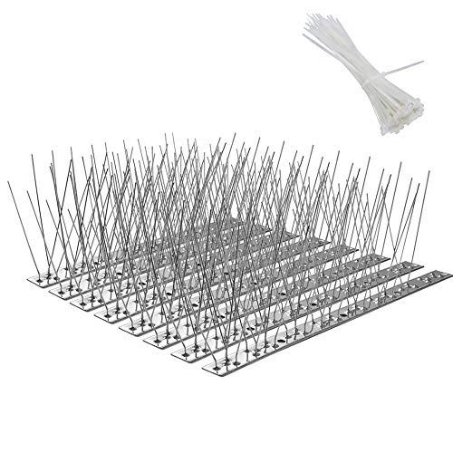 鳥よけ 最新版 100%ステンレス 33cm 8個セット 針が密集 鳩よけ カラスよけ フン害防止 害鳥による被害を防ぐ ベランダ・屋上・窓枠用 簡単設置 JPV033