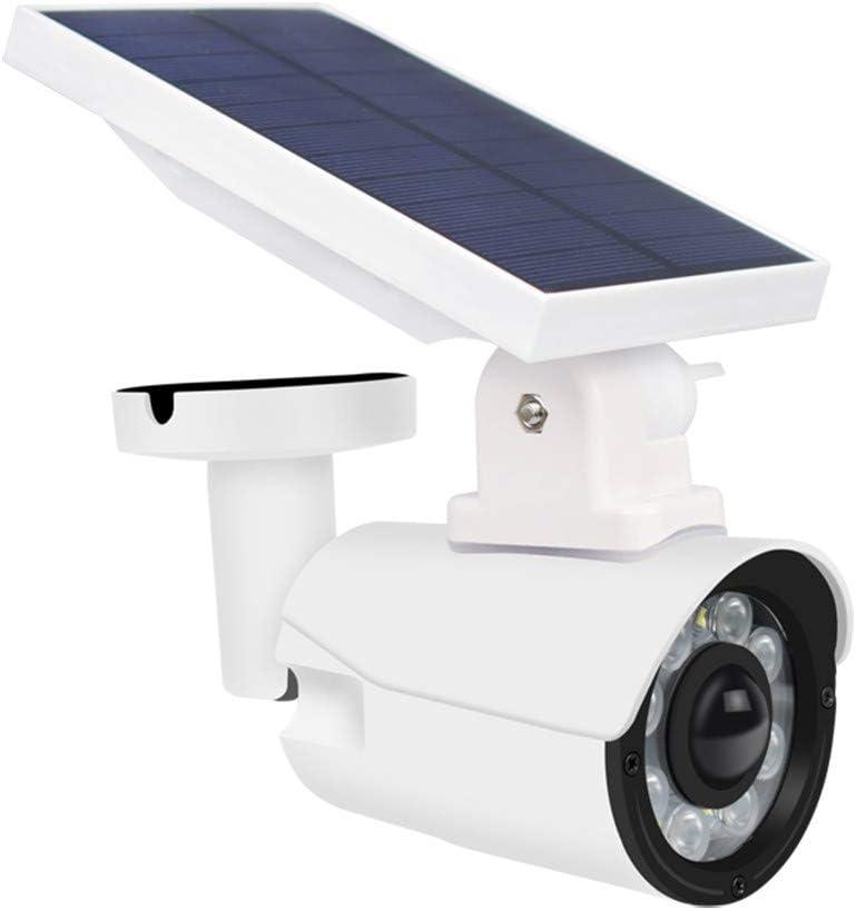 Fine Solar Light Outdoor Wireless Light Security Spotlights Solar Powered Camera Simulation Monitor for Porch Garden Driveway Pathway Simulation Camera Waterproof