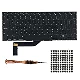 Willhom US Keyboard with Screws + Screwdriver Kit Replacement for MacBook Pro Retina 15' A1398 (Mid 2012- Mid 2015)