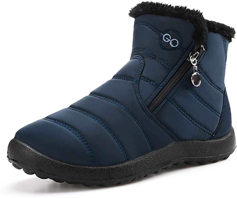 Womens Winter Low price Snow Boots Fur Lined Ankle Wate Warm Memphis Mall Slip On