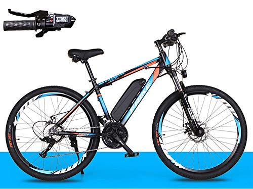 Elektrofahrräder Fahrrad Elektrofahrrad 26zoll E- Bike Mountainbike mit 36V 8Ah Lithium-Batterie und 27-Gang Langstreckenfahrt 35 Km/h,250w Citybike Mit Multifunktionales Smart Meter-Blau_orange