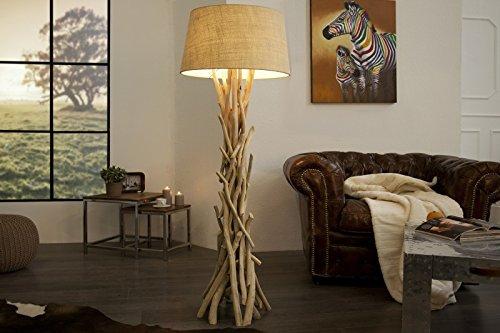 DuNord Design DRIFTWOOD - Lámpara de pie (155 cm), color marrón