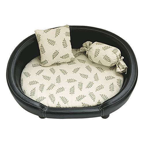 Wen Ying Leder Hundehütte abnehmbar und waschbar vier Jahreszeiten kleiner Hund Golden Retriever Hundehütte Haustier Sofa Haustierbett
