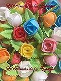 Flores de Oblea Papel de Arroz - Decoraciones Repostería - 90 unidades Caja