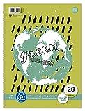 Staufen 608511028 - Staufen Green Collegeblock, DIN A4, Deckblatt mit 2 Motiven, Lineatur 28 (5 mm...