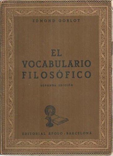EL VOCABULARIO FILOSOFICO.