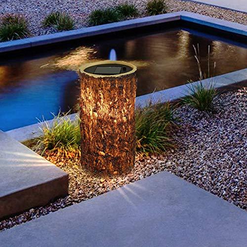 GOTOTOP Lámpara Solar Landscape Path, luz Blanca cálida, luz Solar, iluminación Decorativa para césped, Alto Brillo para jardín, Patio