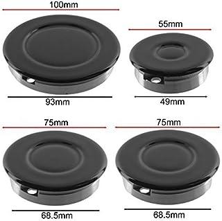Universal cuisinière four et plaque de cuisson BAUKNECHT contrôle BLANC Bouton /& Adaptateur x 4