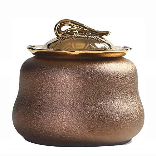 GYC Urna funeraria, Exquisito ataúd para Mascotas, urna de cerámica para Gatos/Perros, Monumento de cremación de Animales y lápida, Cilindro Sellado Decorativo Coleccionable/enterrado (tamaño: