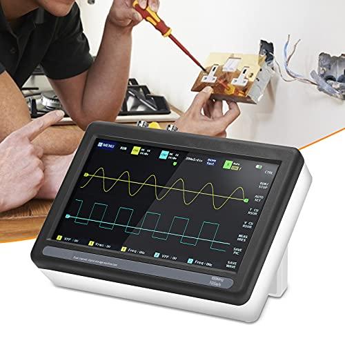 KKTECT Osciloscopio digital con pantalla táctil de 2 canales 1013D 7 pulgadas osciloscopio de almacenamiento digital con ancho de banda de 100 MHz/frecuencia de muestreo de 1GS
