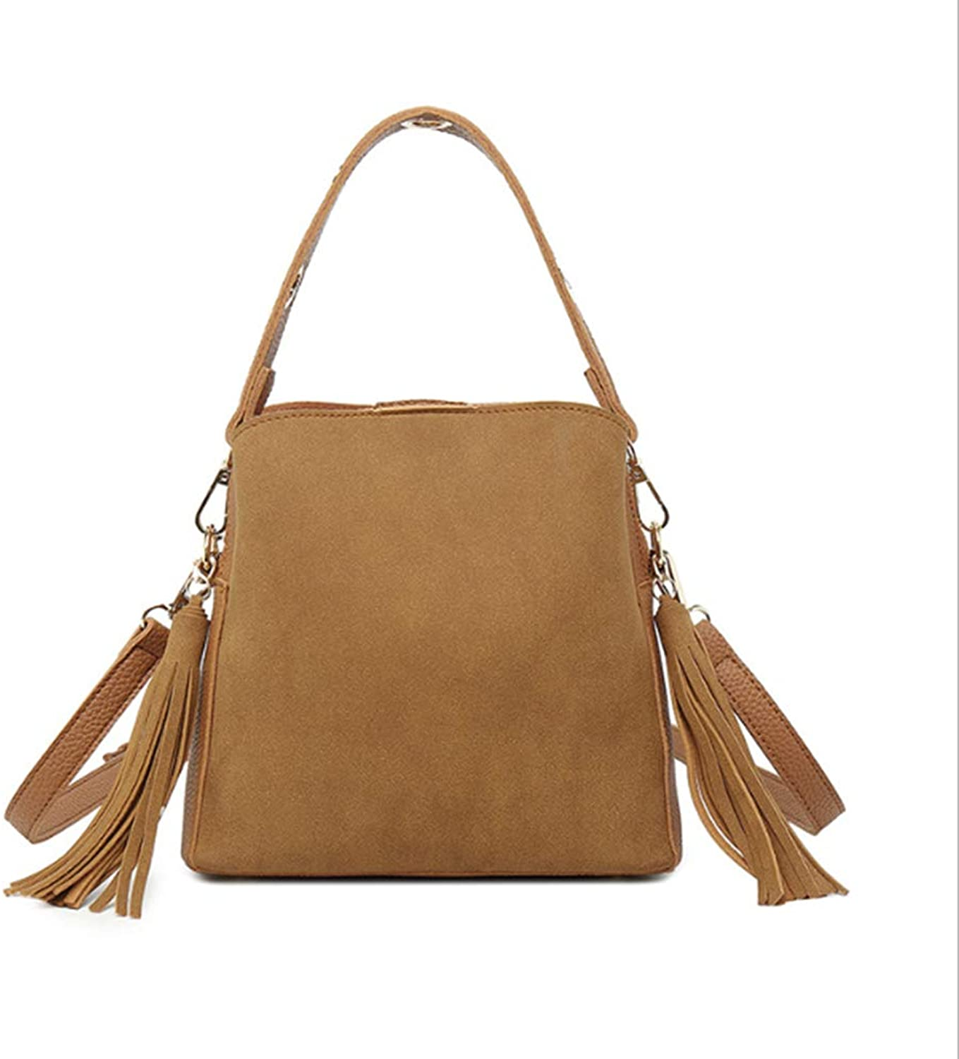 972821af9a59a Designer Women Handbags, PU Leather Adjustable Strap Shoulder Bag Tassel  Fashion Trend Capacity Work Polyester,Brown Large Hobo nribmf2563-Sporting  goods