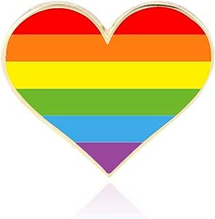 10 Pack Gay Pride pins- Jewelry Quality Enamel Rainbow Pride Lapel Pin- Gay LGBTQ Heart Flag Lapel Pins
