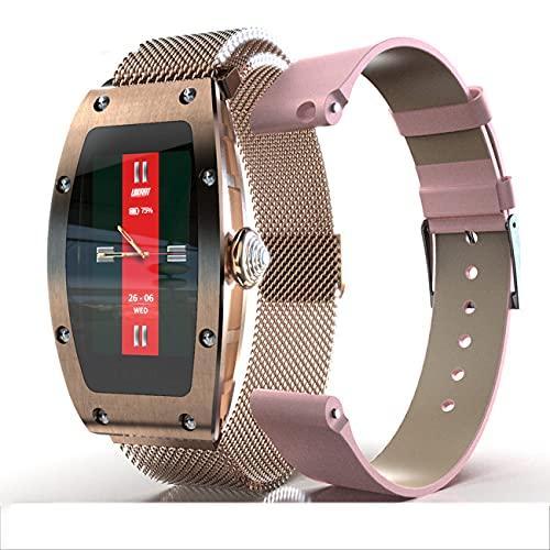 Lazzzgua Women Smart Watch, Fashion Fitness Smartwatch with IP67 Waterproof Bluetooth Calling Wireless Music Player Heart Rate Monitor Reloj Inteligente for Multi-Sports Modes