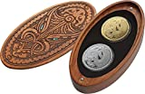 Power Coin Mythical Taniwha Maori Tekau Tara Set 2x1 Oz Moneda Plata 1$ Oro 10$ New Zealand 2017