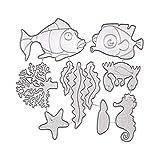 Fustelle Figura della Carte Decorative Bordi Metallici Stencil per Greeting Card Copertura goffratura Stencil Fai da Te Scrapbooking Album (Sea World)