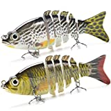 Supertrip 5/8-ounce 5-inch 8 Segment Swimbait Lures Crankbaits Baits Hard Bait Fishing Lures Colour Yellow