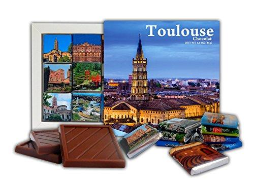 DA CHOCOLATE Candy Souvenir TOULOUSE Set cadeau chocolat 13x13cm 1 boîte (Ciel)