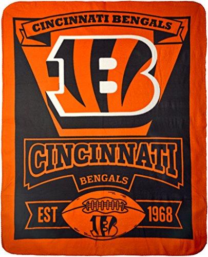 NFL Cincinnati Bengals 'Marque' Fleece Throw Blanket, 50' x 60'