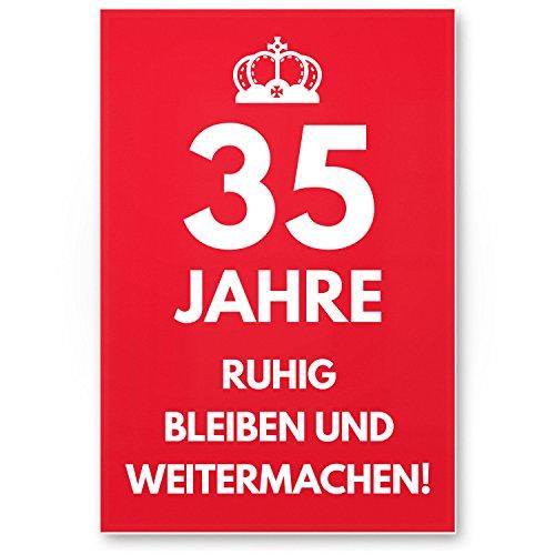 Bedankt! 35 jaar, rustig blijven - Cadeau 35. Verjaardag, cadeau-idee verjaardagscadeau vijfen driemisten, verjaardagsdecoratie, feestaccessoires, verjaardagskaart