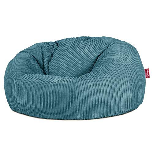Lounge Pug, Sitzsack Sofa, Relaxsessel, Cord Türkis
