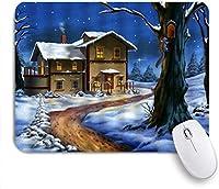 マウスパッド クリスマススノーフレーククリスマスレッドシルバーボール ゲーミング オフィス最適 高級感 おしゃれ 防水 耐久性が良い 滑り止めゴム底 ゲーミングなど適用 用ノートブックコンピュータマウスマット