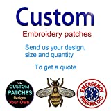 iron on company logo - Custom Design Embroidery Patches Any Size Any Logo Decorative Patches Name Patches Iron on Sew on Hook & Loop (5 Pieces)