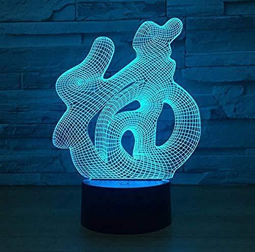 3D illusie nachtlampje Bluetooth Smart Control 7 & 16 M Color Mobile App LED Vision dier vogel elster spatel bureau Rome decoratie oplichtend vakantie kinderen speelgoed party nachtkastje