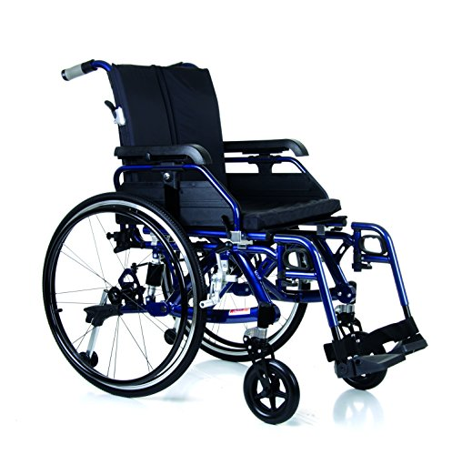 Blue Enduro Suspension Self-Propelled Wheelchair