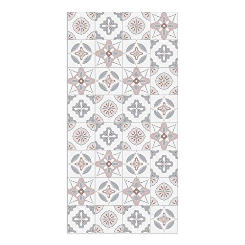 DON LETRA Alfombra Vinílica Baldosas, 80 x 40 cm, Color Rosa, Vinilo PVC Estampado, Grosor 2.2 mm, ALV-087