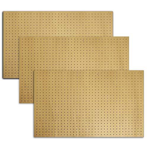 有孔ボード ラワン合板無塗装1/3サイズ(4ミリ厚x横900ミリx縦600ミリ) UKB-600900-R-3S 穴径5ミリ穴ピッチ25ミリ 3枚入り