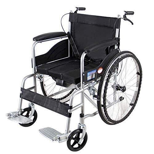 H-Rollstuhl Faltrollstuhl HJH- faltbaren Rollstuhl - Einfache Klapp von Rollstühlen for Erwachsene - Transport Rollstuhl mit 19