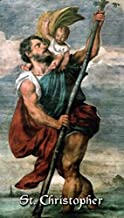 St. Christopher, patron saint of athletes and travelers, prayer card (3-pack)