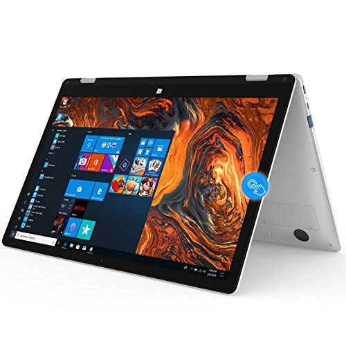Winnovo 13.3 Zoll 2in1 Laptop Convertible PC Notebook, VocBook Intel Celeron N3350, 4GB RAM, 64GB eMMC, FHD IPS Touch, Dual WiFi, 10000mAh, HDMI, QWERTZ Tastatur, Windows 10 in S Mode, Silber