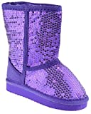 Ositos Febe Baby Girls Sequin Faux Fur Mid Calf Shearling Boots Purple 6