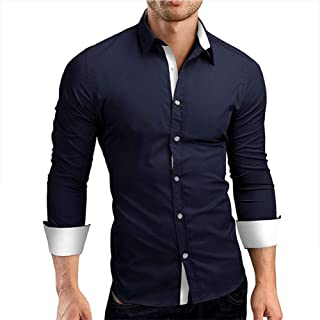 Modello Quadri Kayhan Originale Uomo Camicia Slim Fit Facile Stiro Cotone Maniche Lungo S M L XL XXL 2XL