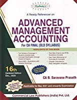 Padhuka's A Ready Referencer on Advanced Management Accounting for CA Final - 16/edition, 2020