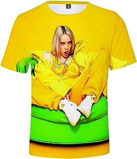 Billie Eilish 3D Digital Printed Short-Sleeved T-Shirt